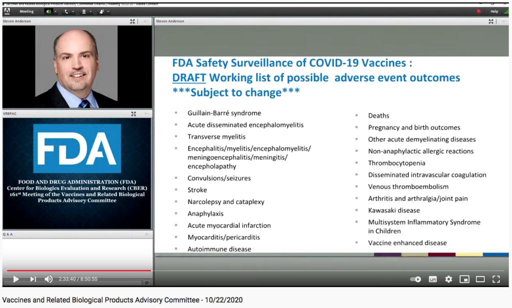 Herausgeschnittene-Folie aus Youtoube Video der FDA